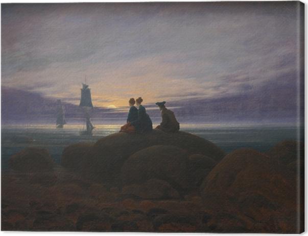 Quadro su Tela Caspar David Friedrich - Lo spuntare della luna sopra il mare II - Reproductions