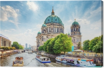 Quadro su Tela Cattedrale di Berlino. Berliner Dom. Berlino, Germania