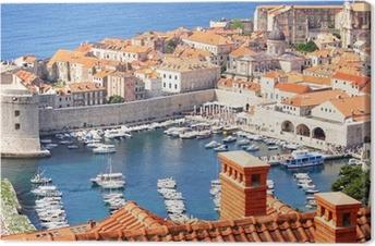 Quadro su Tela Centro storico di Dubrovnik e la marina