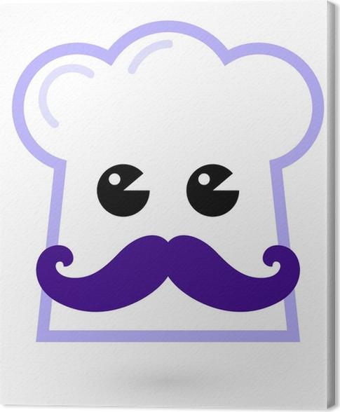 Quadro su Tela Chef - personaggio cappello cucina isolato su bianco ... 7a19c12f80fd