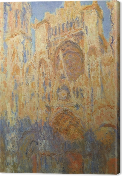 Quadro su Tela Claude Monet - Cattedrale di Rouen al sole - Riproduzioni