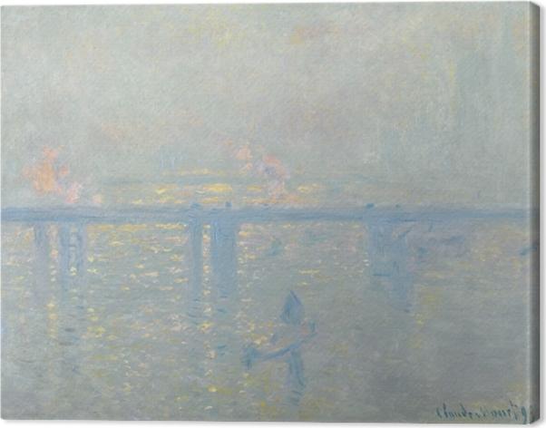 Quadro su Tela Claude Monet - Il Tamigi a Charing Cross - Riproduzioni