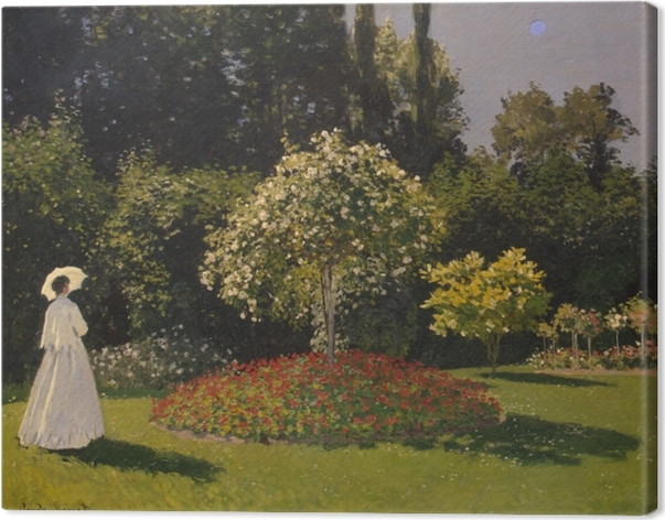 Quadro Su Tela Claude Monet La Donna In Un Giardino
