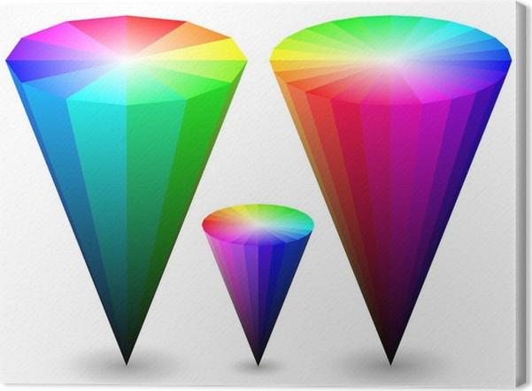 Quadro su tela coni di colore 3d u2022 pixers® viviamo per il cambiamento