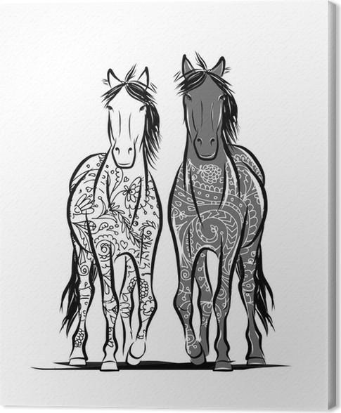 Quadri Moderni Con Cavalli. Quadri Astratti Moderni Cavallo Astratto ...