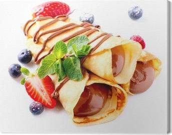 Quadro su Tela Crepes con crema di cioccolato e frutti di bosco
