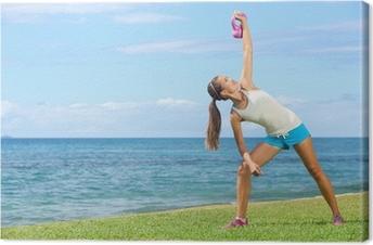 Quadro su Tela Crossfit esercizio donna