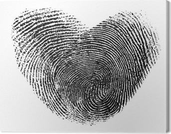 Quadro su tela cuore di impronte digitali isolato su bianco u2022 pixers