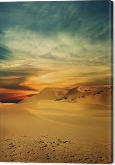 Quadro su Tela Deserto di sabbia al momento del tramonto