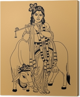 Quadro su Tela Dio indiano.