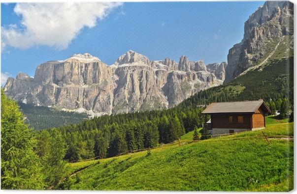 Quadro su Tela Dolomiti - alta Val di Fassa • Pixers® - Viviamo per ...