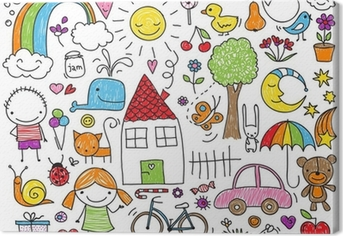 Quadro su Tela Doodle per bambini