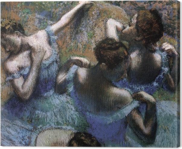 Quadro su Tela Edgar Degas - Ballerine blu - Riproduzioni