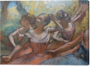 Quadro su Tela Edgar Degas - Quattro Dancers on Stage