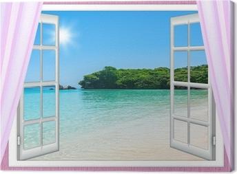 Quadri su tela finestra rustica pixers viviamo per il cambiamento - Quadri con finestre ...