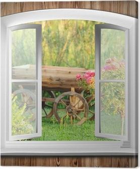 Quadri su tela finestre pixers viviamo per il cambiamento - Quadri con finestre ...