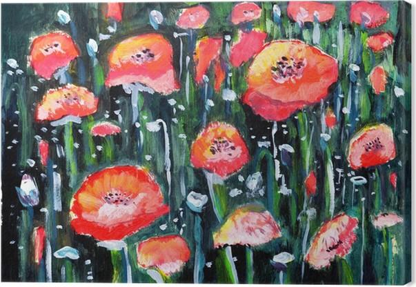 Quadro su Tela Fiore dipinto ad olio • Pixers® - Viviamo per il ...