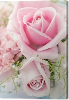 Quadro su Tela Fiori rosa