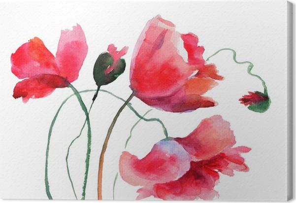 Quadro su tela fiori stilizzati poppy pixers viviamo for Quadri fiori stilizzati