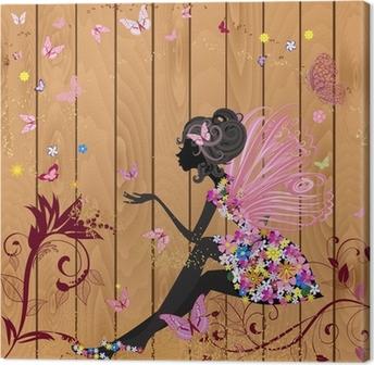 Quadro su Tela Flower Fairy su una struttura di legno per il vostro disegno