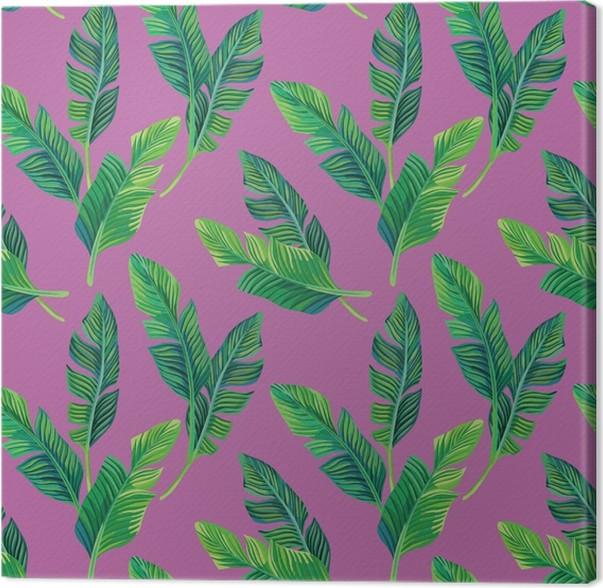 Quadro su Tela foglie di banano sfondo senza soluzione di continuità -