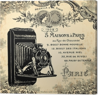 Quadro su Tela Fotografo 1900