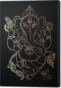 Quadro su Tela Ganesha disegnato a mano illustrazione.