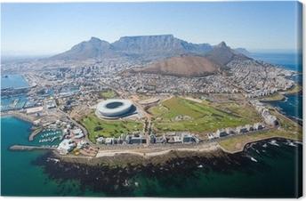 Quadro su Tela Generale veduta aerea di Città del Capo, Sud Africa