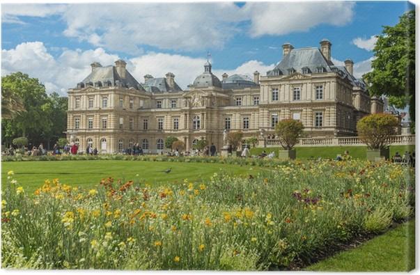 Quadro su tela giardini di lussemburgo jardin du luxembourg a