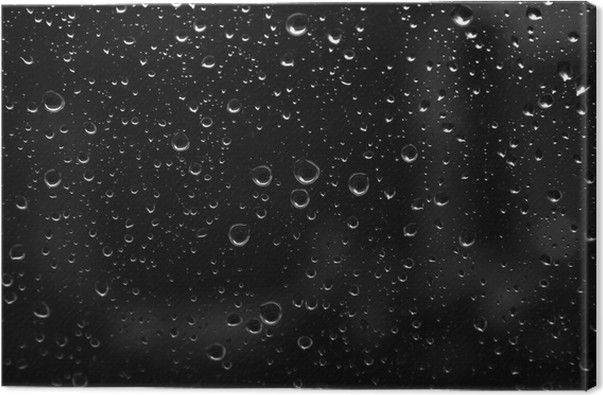 Quadro su tela goccia di pioggia su sfondo astratto nero u2022 pixers
