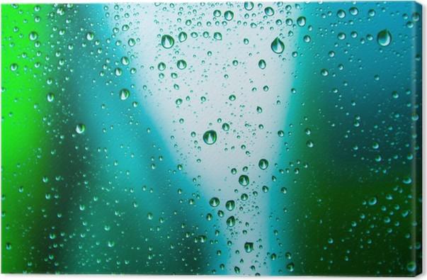 Quadro su tela goccia di pioggia su sfondo astratto u2022 pixers