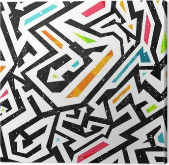Quadro su Tela Graffiti - seamless pattern