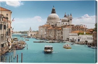 Quadro su Tela Grand Canal and Basilica Santa Maria della Salute, Venice, Italy