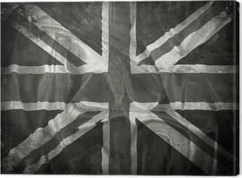 Quadro su Tela Grunge Union Jack flag background