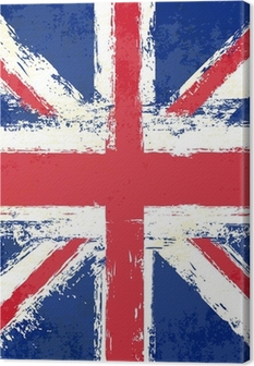 Quadro su Tela Grunge Union Jack