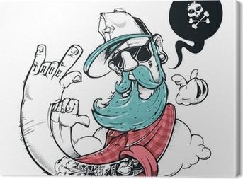 Quadro su Tela Hipster graffiti illustrazione