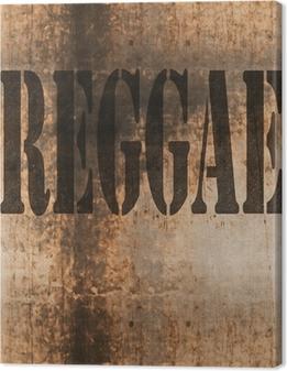 Quadro su Tela Il reggae parola astratta musica grunge background