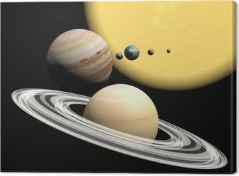 Quadro su Tela Il sistema solare, la presentazione abstact.
