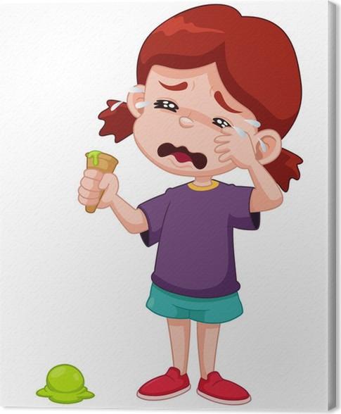 Quadro su tela illustrazione di cartone animato ragazza