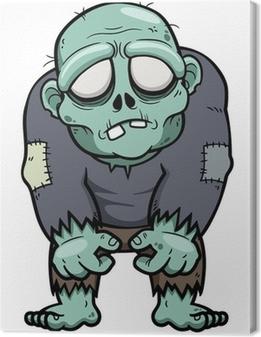 Quadro su Tela Illustrazione vettoriale di Cartoon zombie