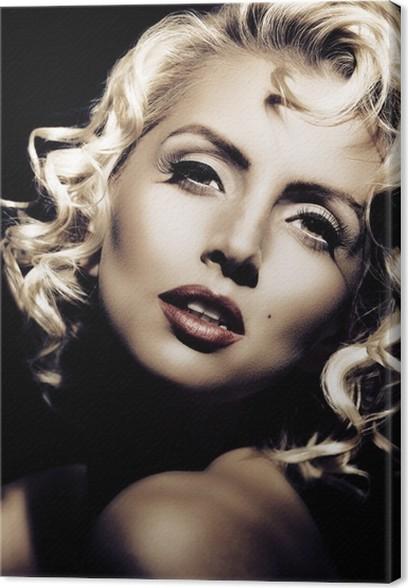 Quadro su Tela Imitazione di Marilyn Monroe. stile retrò • Pixers ...