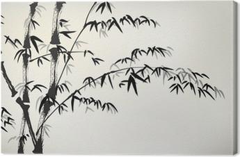 Quadro su Tela Inchiostro bambù verniciato