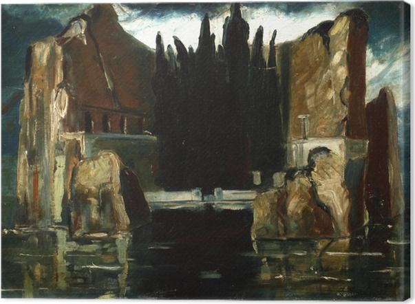 Quadro su Tela Jacek Malczewski - L'Isola dei Morti - Reproductions
