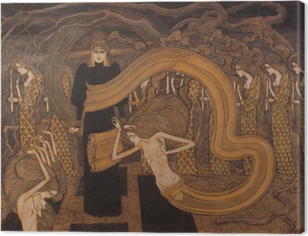 Quadro su Tela Jan Toorop - Fatalismo - Reproductions