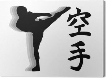 Quadro su Tela Karate fighter - vector calcio alto