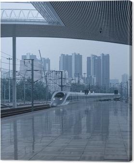Quadro su Tela La stazione ferroviaria ad alta velocità