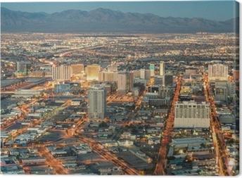 Quadro su Tela Las Vegas Downtown - Veduta aerea di edifici generici prima che Sun