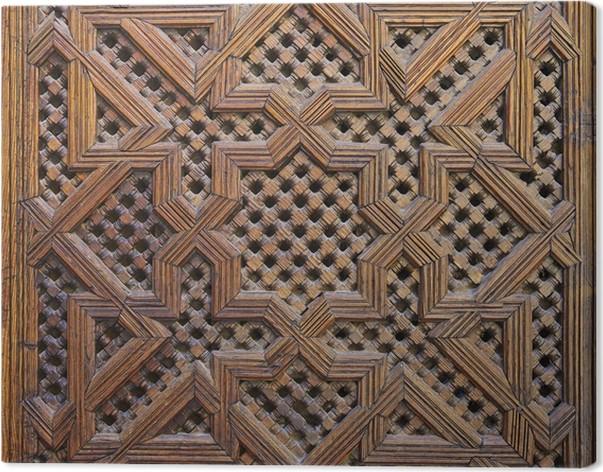 Quadro su Tela Legno di Cedro marocchino Arabesque Carving • Pixers ...