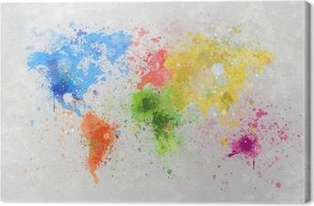 Quadro su Tela Mappa del mondo pittura