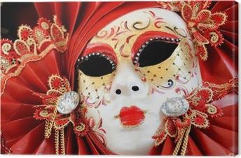 Quadro su Tela Maschera di carnevale veneziano.
